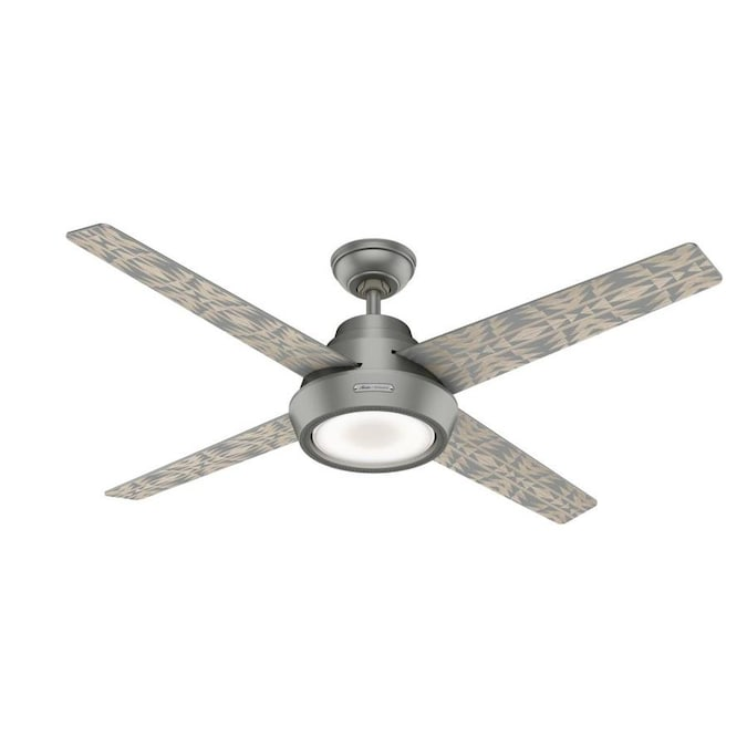 Hunter Pendleton Canyon Lands And Pecos Matte Silver 54 In Indoor Ceiling Fan 4 Blade In The Ceiling Fans Department At Lowes Com