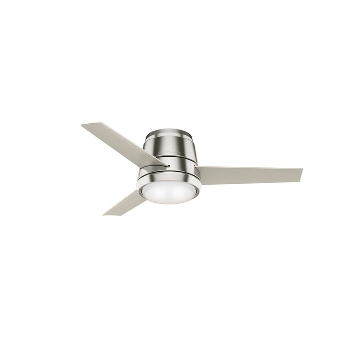 Casablanca Commodus Brushed Nickel 44 In Led Indoor Flush Mount Ceiling Fan With Light Kit With Remote 3 Blade In The Ceiling Fans Department At Lowes Com
