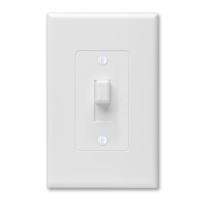 Taymac Revive 1 Gang White Single Toggle Midsize Wall Plate In The Wall Plates Department At Lowes Com