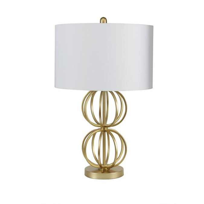 Cheyenne Products 27 25 In Gold Rotary Socket Table Lamp With Linen Shade In The Table Lamps Department At Lowes Com