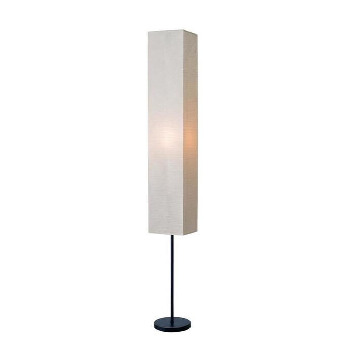 Style Selections Erskin 70 In Silver Shaded Floor Lamp In The Floor Lamps Department At Lowes Com