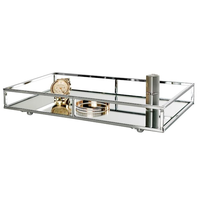 Style Selections Wright Chrome Metal Vanity Tray In The Bathroom Accessories Department At Lowes Com