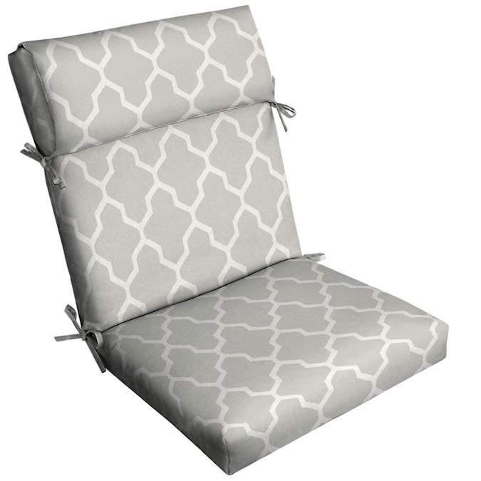 Roth Boston Trellis Jacquard Dove Grey, Patio Furniture Cushion