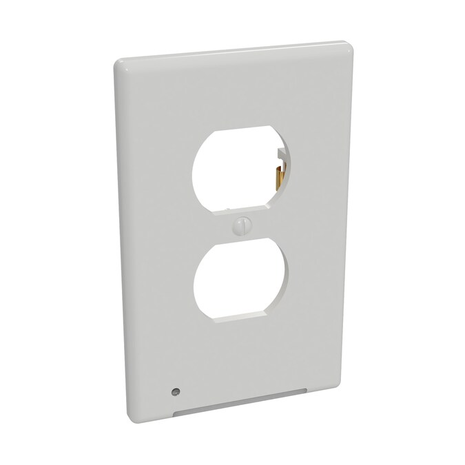 Westek Lumicover 1 Gang White Single Duplex Lighted Standard Wall Plate In The Wall Plates Department At Lowes Com