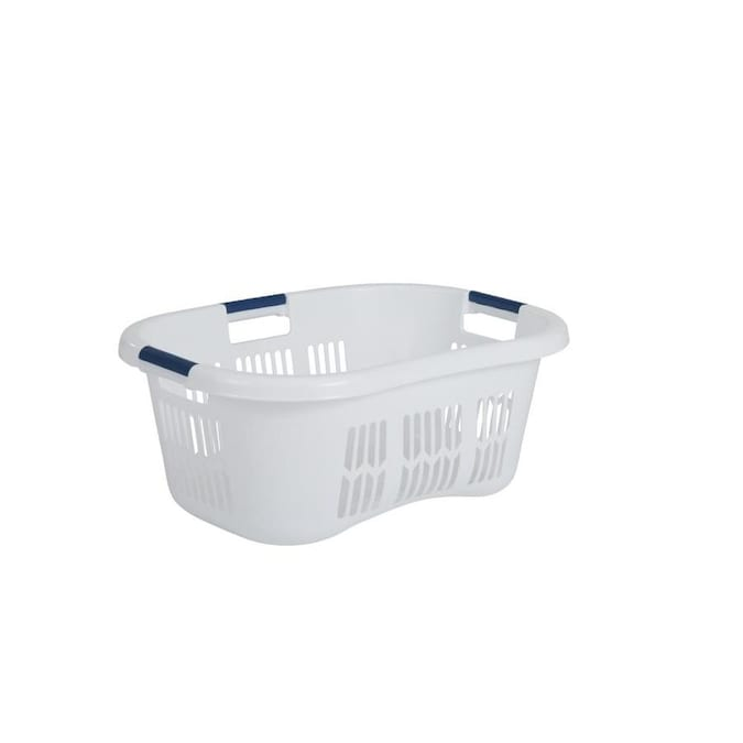 Rubbermaid 2 1 Bushel Plastic Laundry Basket In The Laundry Hampers Baskets Department At Lowes Com