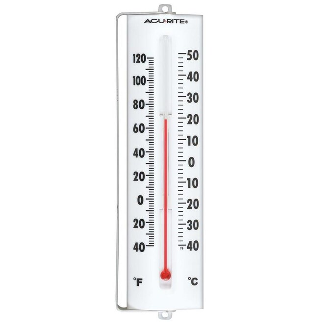 Acurite Analog Wireless Outdoor White Thermometer In The Thermometer Clocks Department At Lowes Com