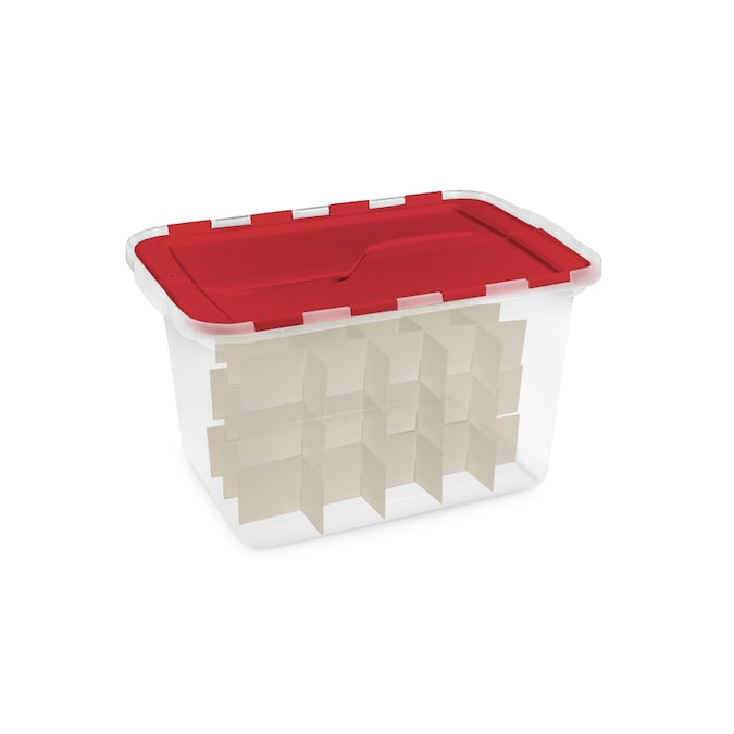 Homz Products 14 87 In X 13 In Clear Plastic Ornament Storage Bag In The Ornament Storage Boxes Department At Lowes Com