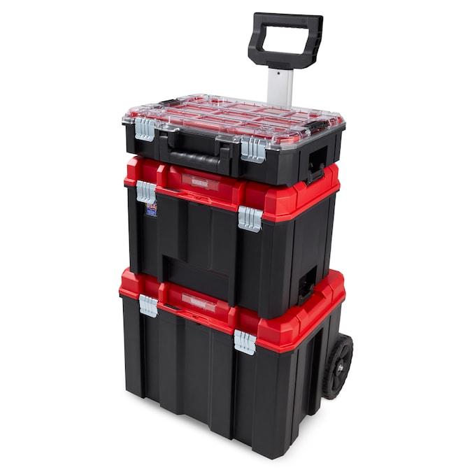 CRAFTSMAN VERSASTACK 17.126-in Plastic; Metal Wheels Lockable Tool Box in  the Portable Tool Boxes department at Lowes.com
