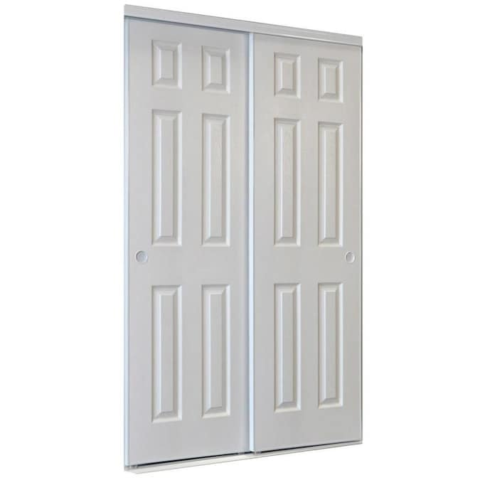 Reliabilt 9205c Series 72 In X 80 In White 6 Panel Prefinished Steel Sliding Door Hardware Included In The Closet Doors Department At Lowes Com