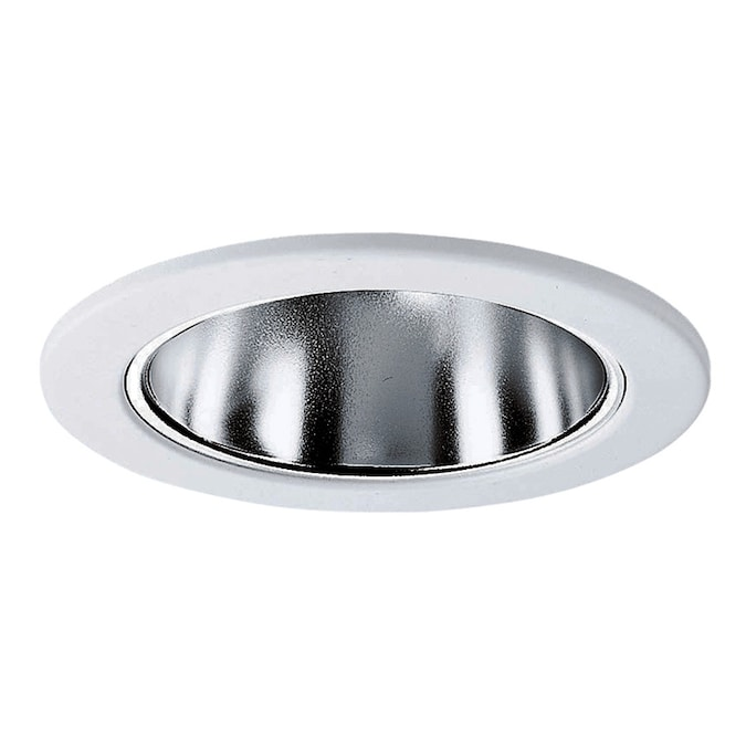 Progress Lighting 4 In Clear Alzak Reflector Recessed Light Trim In The Recessed Light Trim Department At Lowes Com