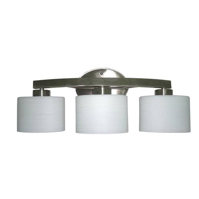Allen Roth Merington 3 Light Nickel Transitional Vanity Light Bar In The Vanity Lights Department At Lowes Com
