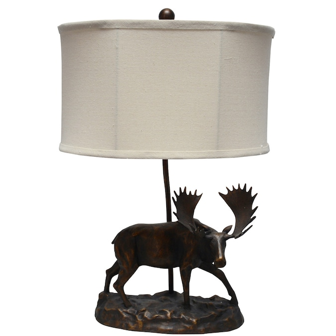 Litex Ozark 22 In Bronze Table Lamp With Fabric Shade In The Table Lamps Department At Lowes Com