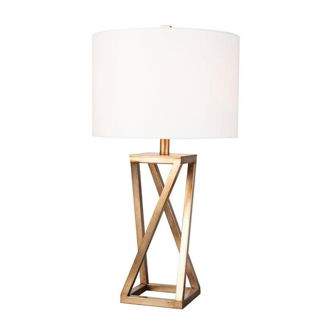 Scott Living 28 In Gold Table Lamp With Fabric Shade In The Table Lamps Department At Lowes Com