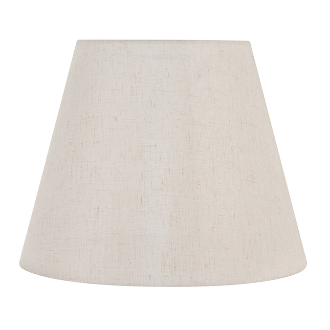 Allen Roth 10 5 In X 13 25 In Light Coffee Fabric Empire Lamp Shade In The Lamp Shades Department At Lowes Com