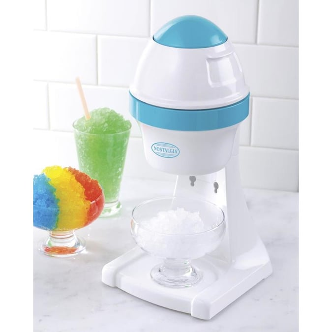 Nostalgia White Blue Snow Cone Maker In The Frozen Drink Machines Department At Lowes Com