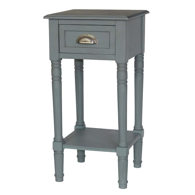 Blue Gray Wood End Table In The End Tables Department At Lowes Com