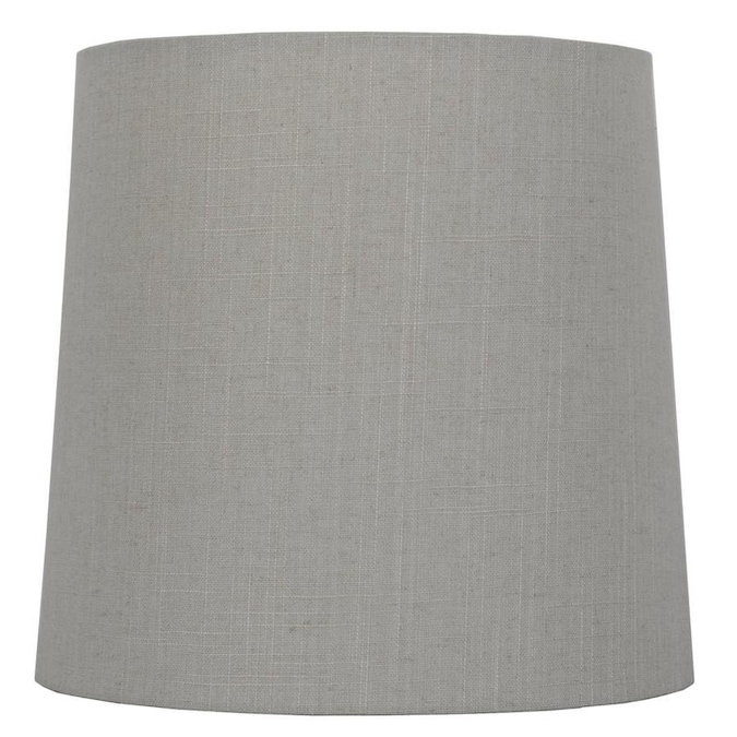 Allen Roth 14 In X 14 In Beige Fabric Drum Lamp Shade In The Lamp Shades Department At Lowes Com