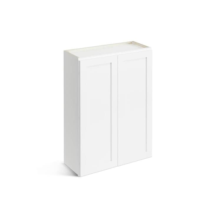 Valleywood Cabinetry 30 In W X 42 In H X 12 In D Pure White Birch Door Wall Stock Cabinet In The Stock Kitchen Cabinets Department At Lowes Com