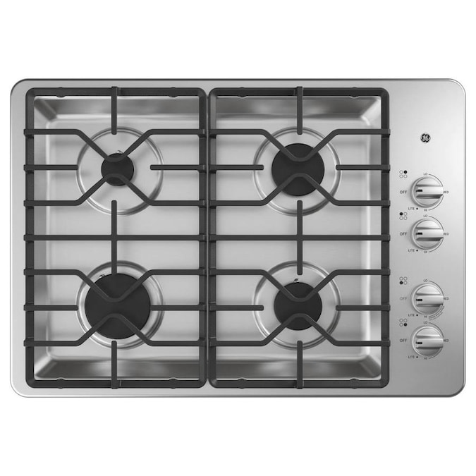 4 Burners Stainless Steel Gas Cooktop, Ge Glass Top Range Burner Replacement