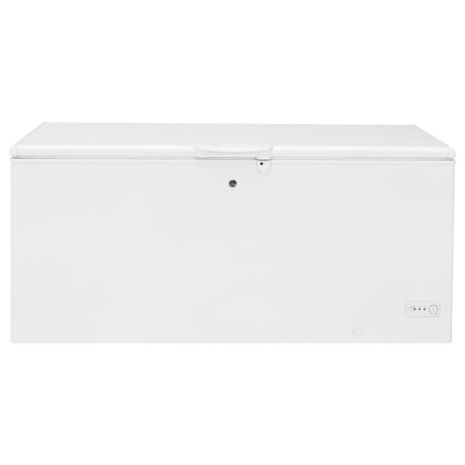Ge Garage Ready 21 7 Cu Ft Manual Defrost Chest Freezer With Temperature Alarm White Energy Star In The Chest Freezers Department At Lowes Com Every year, owners of chest freezers should clean the condenser coils so the freezer can run more efficiently. lowe s