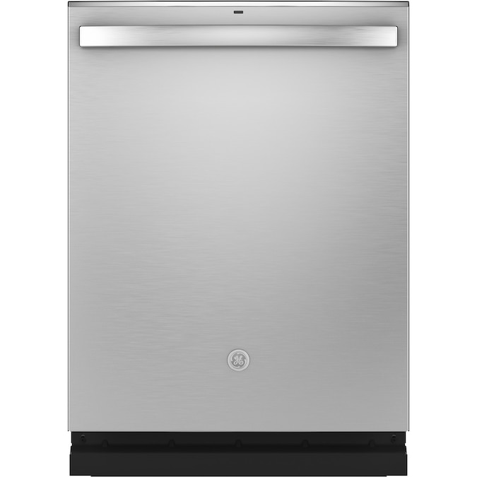 Ge Dry Boost 46 Decibel Top Control 24 In Built In Dishwasher Stainless Steel Energy Star In The Built In Dishwashers Department At Lowes Com
