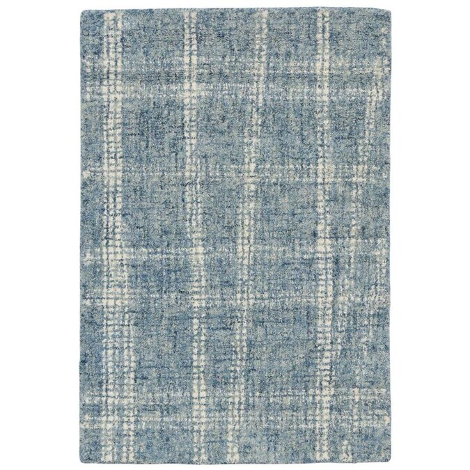 Liora Manne Savannah 2 X 3 Blue Indoor Geometric Mid Century Modern Handcrafted Area Rug In The Rugs Department At Lowes Com
