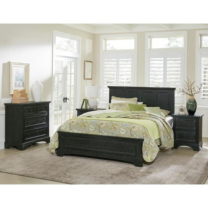 Osp Home Furnishings Farmhouse Basics, Queen Bed With Nightstands