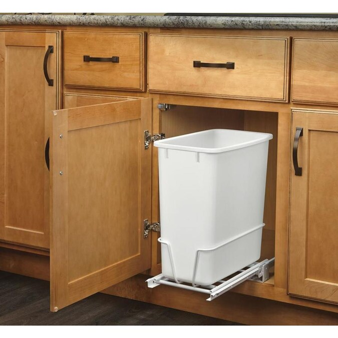 Rev A Shelf 20 Quart Plastic Pull Out Trash Can In The Pull Out Trash Cans Department At Lowes Com