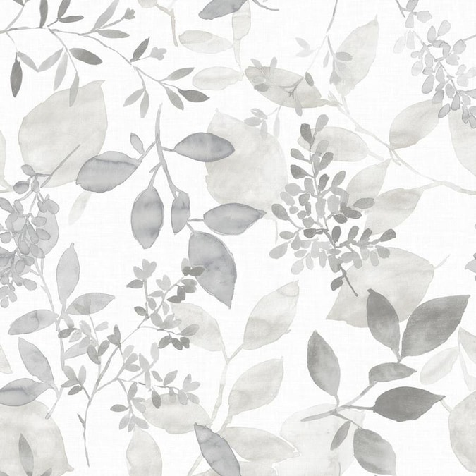 Nuwallpaper 30 75 Sq Ft Grey Vinyl Ivy Vines Self Adhesive Peel And Stick Wallpaper In The Wallpaper Department At Lowes Com