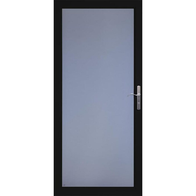 Larson Secure Elegance Black Full View Aluminum Storm Door Common 36 In 81 In Actual 35 75 In X 79 75 In In The Storm Doors Department At Lowes Com More specifically, the larson easyhang storm door. lowe s