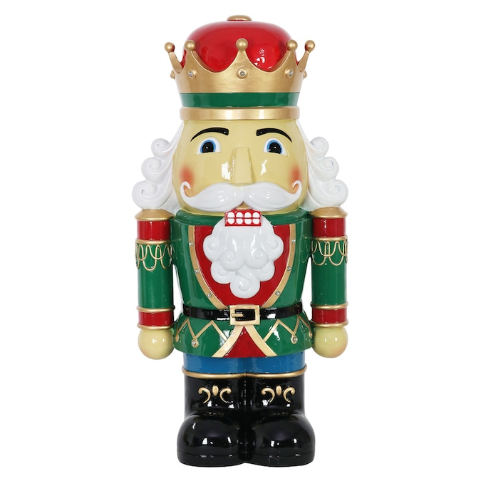 Exhart 24 In Resin Nutcracker King With Leds Led Traditional Soldier Multicolor In The Christmas Statues Greeters Department At Lowes Com
