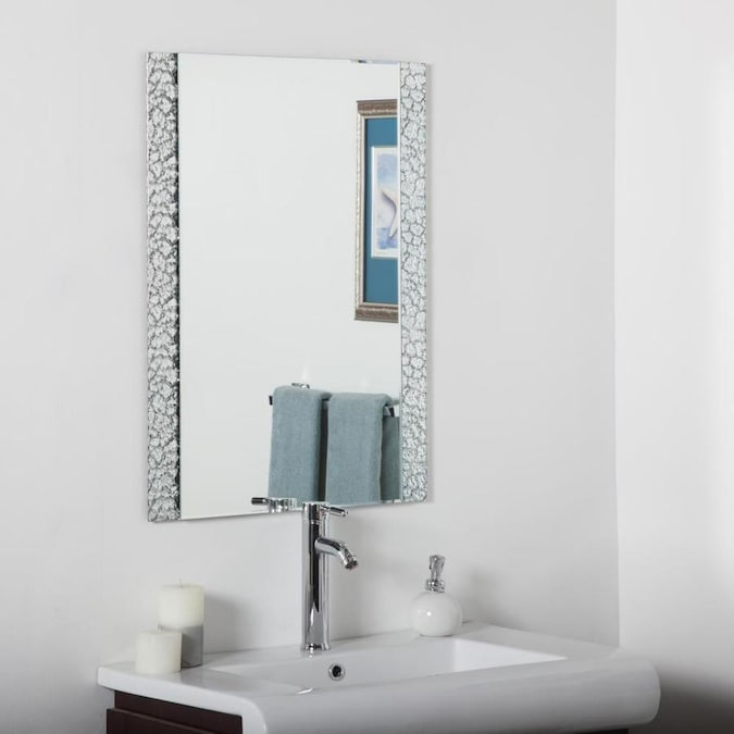 Decor Wonderland 23 6 In Rectangular Frameless Bathroom Mirror In The Bathroom Mirrors Department At Lowes Com