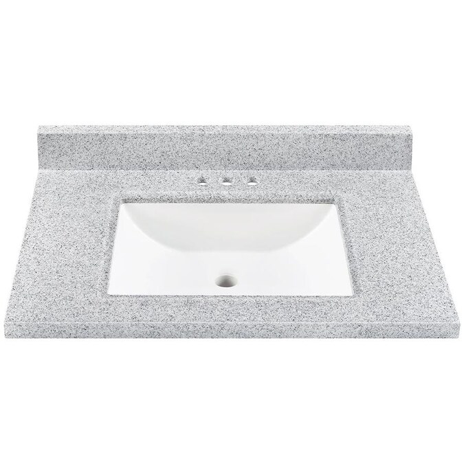31 In Pepper Solid Surface Single Sink Bathroom Vanity Top In The Bathroom Vanity Tops Department At Lowes Com