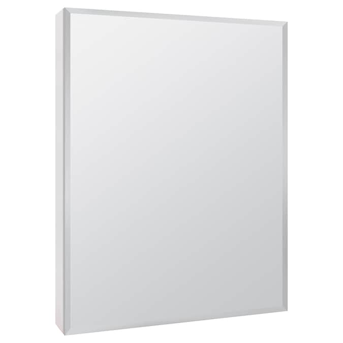 Style Selections 20 In X 26 In Surface White Mirrored Rectangle Medicine Cabinet In The Medicine Cabinets Department At Lowes Com
