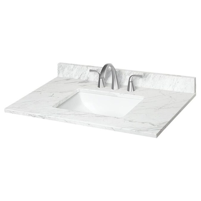 Bestview 31 In Beige Polished Granite Single Sink Bathroom Vanity Top In The Bathroom Vanity Tops Department At Lowes Com