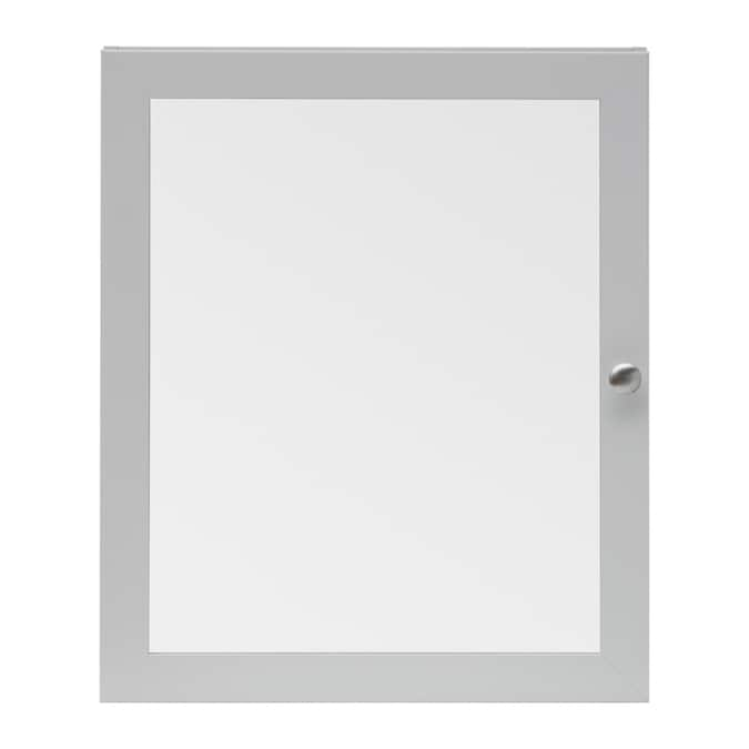 Style Selections 19 5 In X 23 7 In Surface Gray Mirrored Rectangle Medicine Cabinet In The Medicine Cabinets Department At Lowes Com