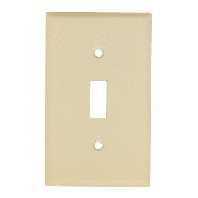 Mulberry 1 Gang Wrinkle Ivory Single Toggle Standard Wall Plate In The Wall Plates Department At Lowes Com