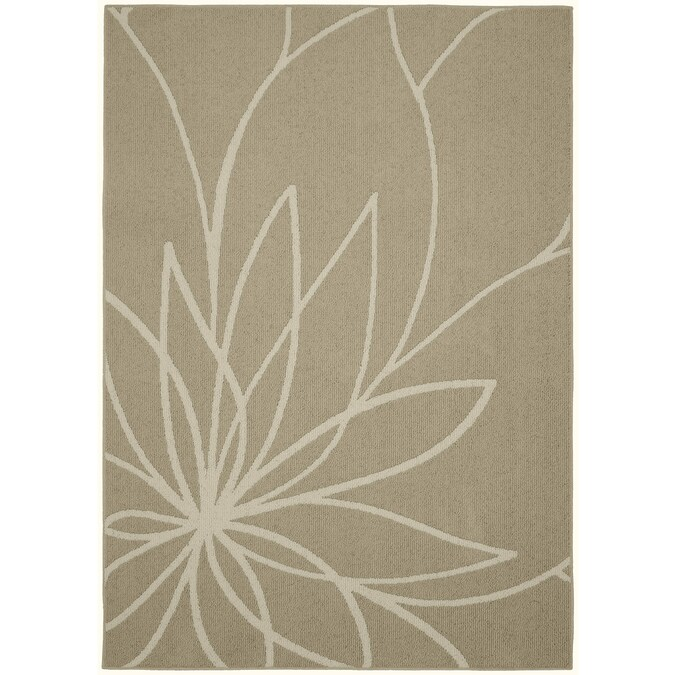 Garland Grand Floral 8 X 10 Tan Ivory Indoor Floral Botanical Area Rug In The Rugs Department At Lowes Com