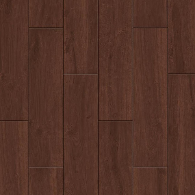 Style Selections Serso Black Walnut 6 In X 24 In Glazed Porcelain Wood Look Floor And Wall Tile In The Tile Department At Lowes Com