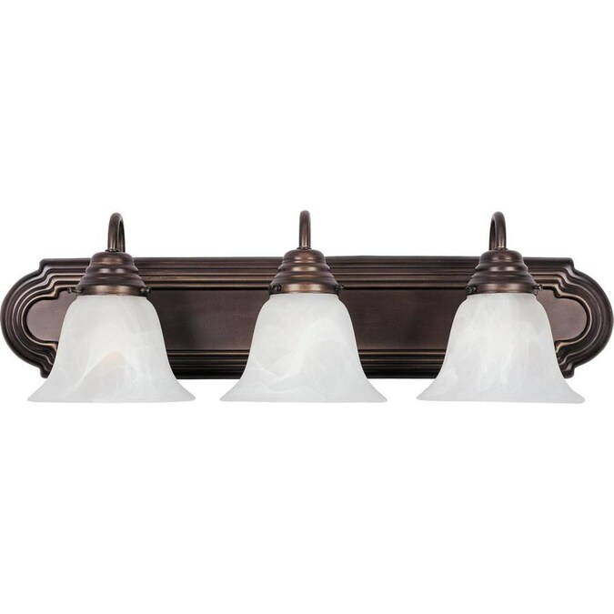 Maxim Lighting Essentials 801x 3 Light Bronze Transitional Vanity Light In The Vanity Lights Department At Lowes Com