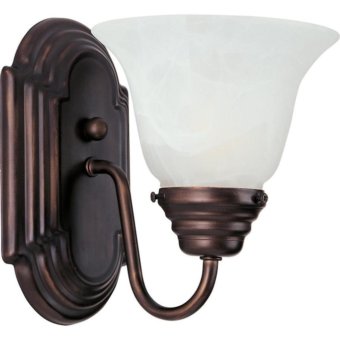 Maxim Lighting Essentials 6 In W 1 Light Oil Rubbed Bronze Transitional Wall Sconce In The Wall Sconces Department At Lowes Com
