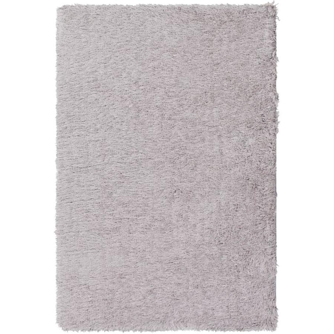 Kaleen Cotton Bloom 5 X 8 Grey Indoor Solid Handcrafted Area Rug In The Rugs Department At Lowes Com