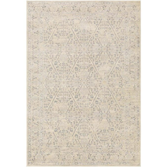Surya City 5 X 8 Khaki Indoor Trellis Vintage Area Rug In The Rugs Department At Lowes Com