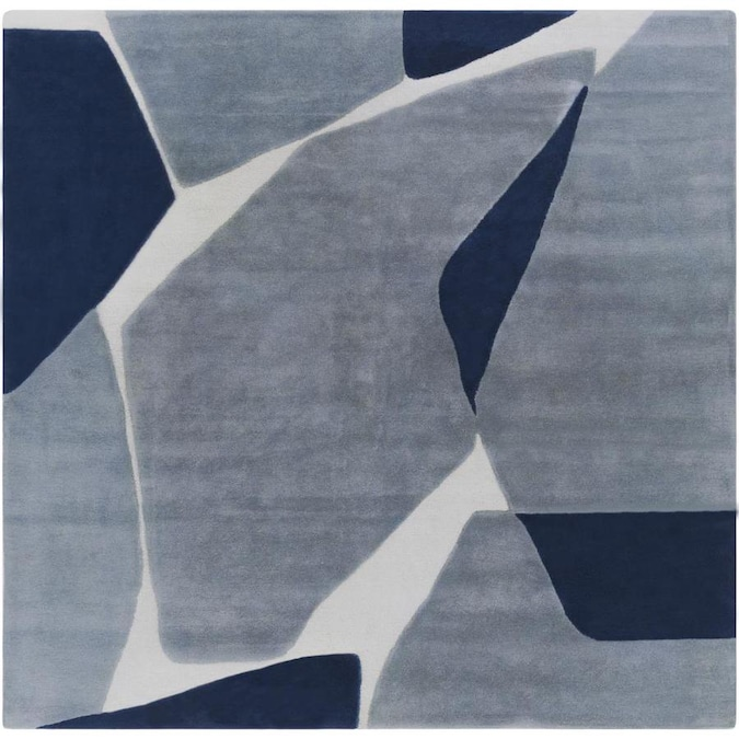 Surya Kennedy 8 X 8 Navy Square Indoor Geometric Industrial Handcrafted Area Rug In The Rugs Department At Lowes Com