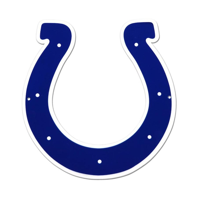 Authentic Street Signs Indianapolis Colts Logo Signs Metal 12-in H x 12-in W Sports Metal Sign in the Wall Art department at Lowes.com