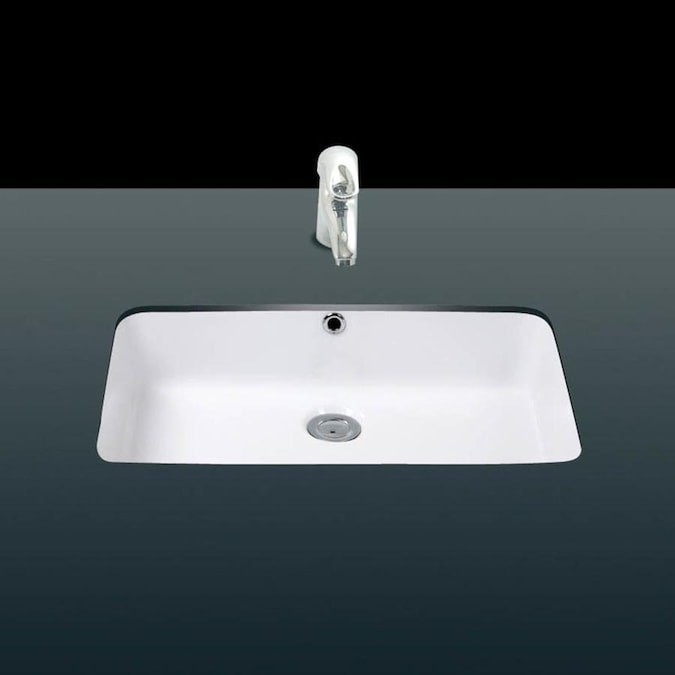 Ws Bath Collections Under Ceramic White Ceramic Undermount Rectangular Bathroom Sink With Overflow Drain 19 7 In X 11 8 In In The Bathroom Sinks Department At Lowes Com
