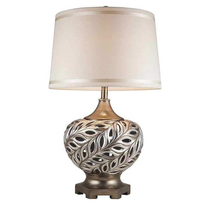 Ore International 16 In White Table Lamp With Plastic Shade In The Table Lamps Department At Lowes Com