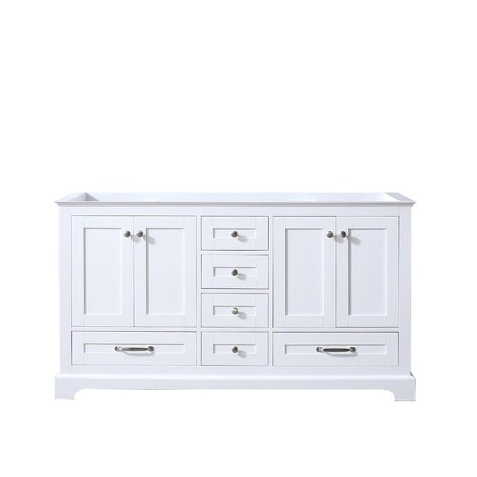 Lexora Dukes 60 In White Bathroom Vanity Cabinet In The Bathroom Vanities Without Tops Department At Lowes Com