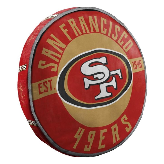 The Northwest Company San Francisco 49ers Nfl 148 Cloud Pillow 15 In X 15 In Multi 94 Polyester And 6 Spandex Round Indoor Decorative Pillow In The Throw Pillows Department At Lowes Com