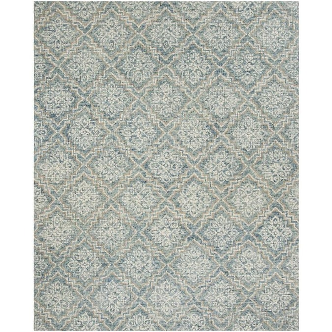 Safavieh Abstract Dumas 8 X 10 Blue Gray Distressed Overdyed Farmhouse Cottage Handcrafted Area Rug In The Rugs Department At Lowes Com